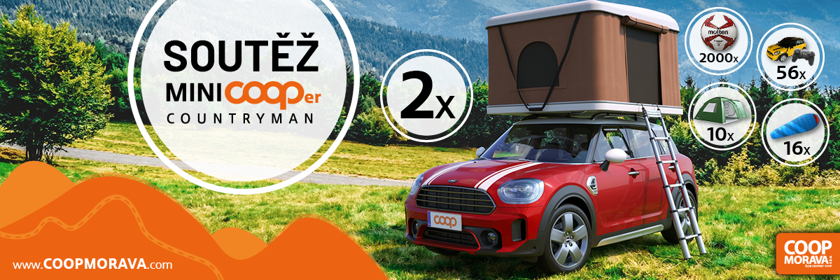 Soutěžte o automobil MiniCOOPer a mnoho daších cen s COOP Morava