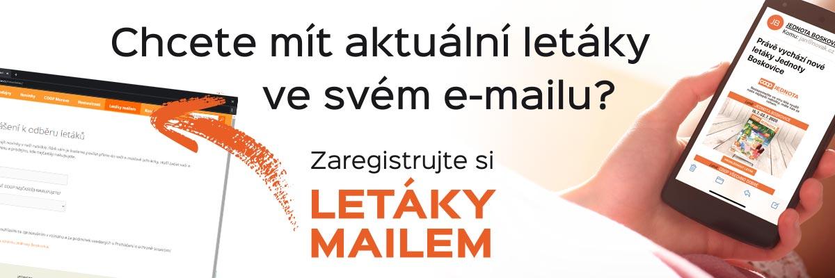 Posíláme letáky Jednoty Boskovice do e-mailových schránek